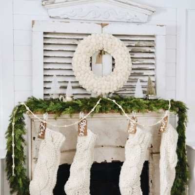 One Mantel…Two Christmas Styles