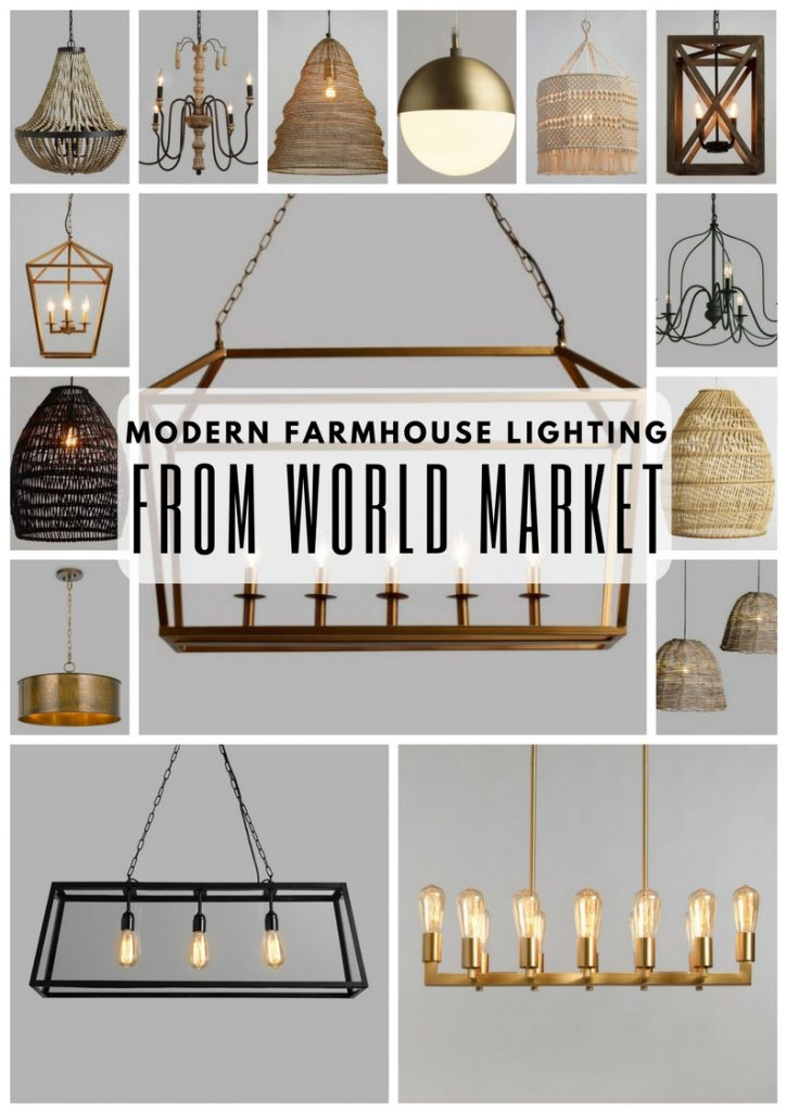modern farmhouse lighting from world
