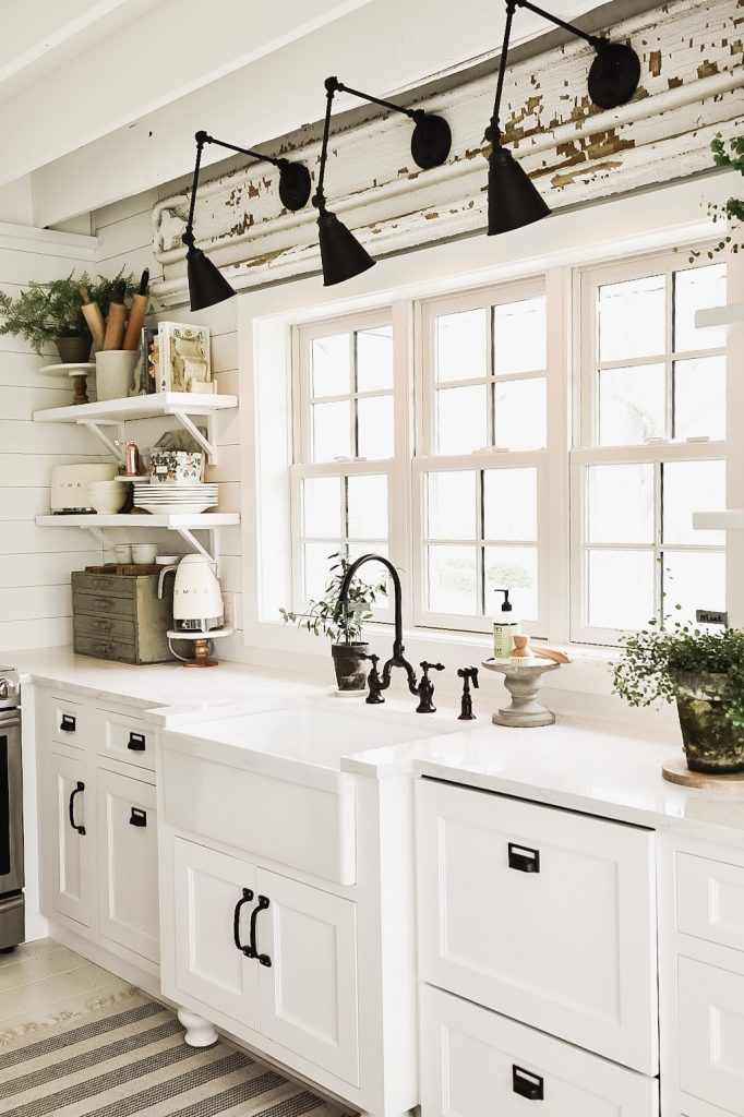 new kitchen wall sconces over the sink