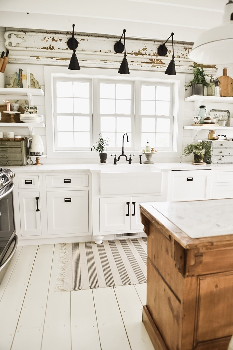 kitchen wall lights weber outdoor new sconces over the sink liz marie blog you see we found this architectural piece a while back right away i wanted to hang it above then came up with idea put