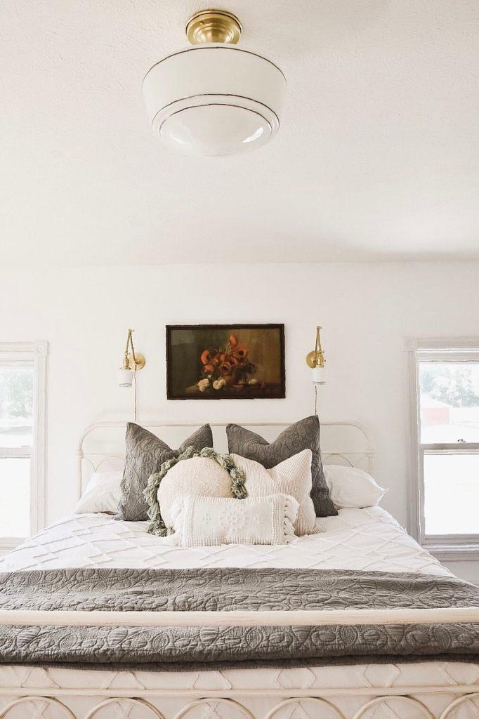 Master Bedroom Makeover - New Wall Sconces - Liz Marie Blog