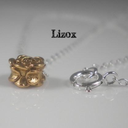 Silver Tiny Rose Necklace