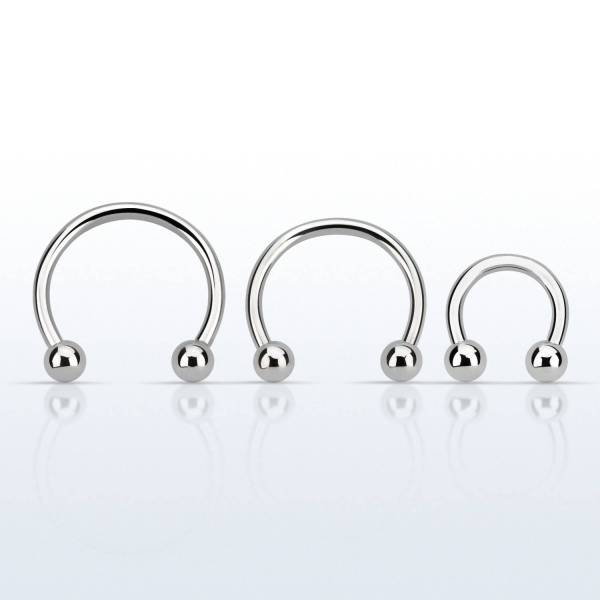 Surgical Steel Circular Twists Barbell With 3mm Balls