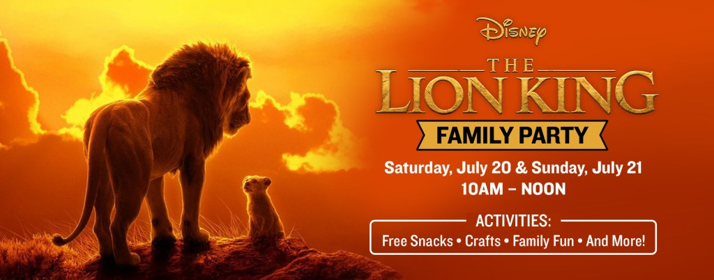 Marcus Theatres: The Lion King Free Family Party