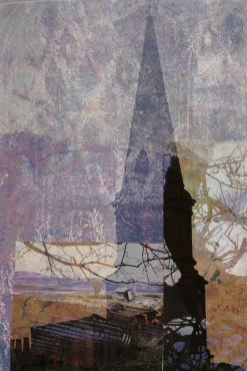 better early: Digital collage by Liz Ruest, 10 layers