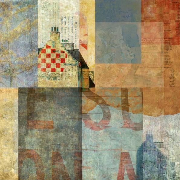 nether millstone: Digital collage by Liz Ruest, 100 layers