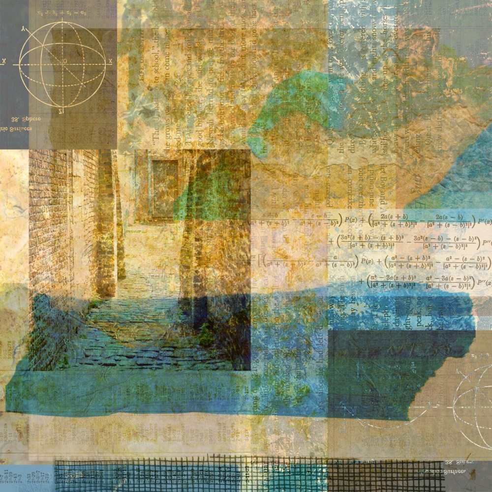 Digital collage, 57 layers