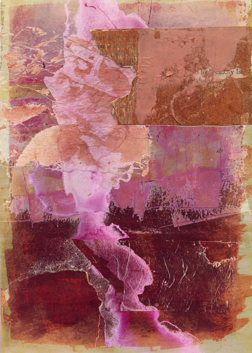 tumbling over itself eastward: Digital collage, 8 layers © 2021 Liz Ruest