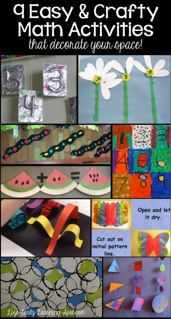 9 Crafty Math Activities for Kinders