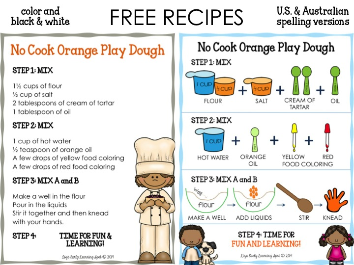 Free recipe from Liz's Early Learning Spot