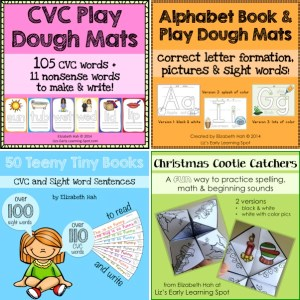4 sale products from Liz's Early Learning Spot