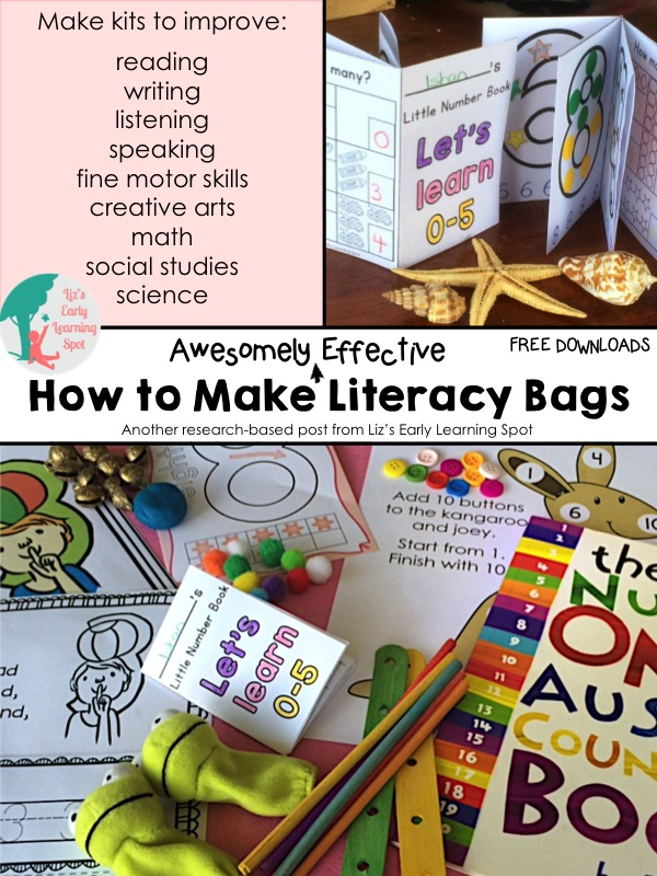 How To Make Awesomely Effective Literacy Bags Liz's