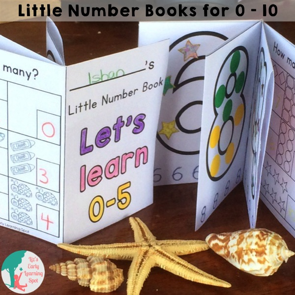 Make these free and useful number books from one piece of folded paper