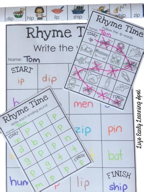 32 fun rhyming words mazes!