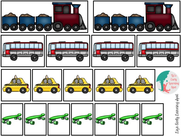 Let's practice measuring with transportation! Free download.