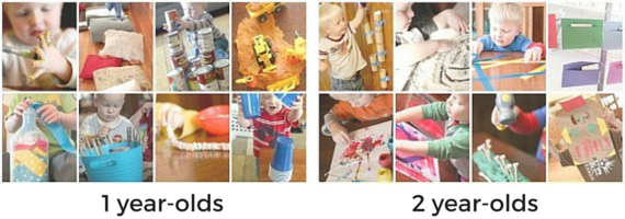Fun activities for one and two year-olds