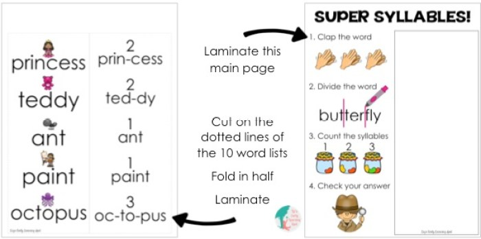 Little ones will practice syllables in a flash with this free download!