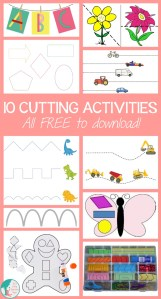 10 Cutting Activities for Kids