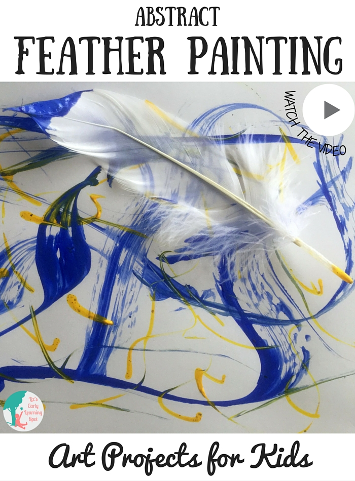 This abstract feather painting creates beautiful pieces of artwork. Free 'how to' download on the blog!