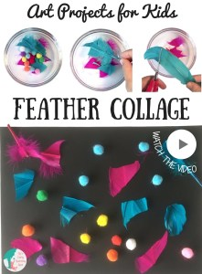 Art Projects for Kids: Abstract Feather Collage
