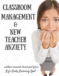Classroom Management and New Teacher Anxiety