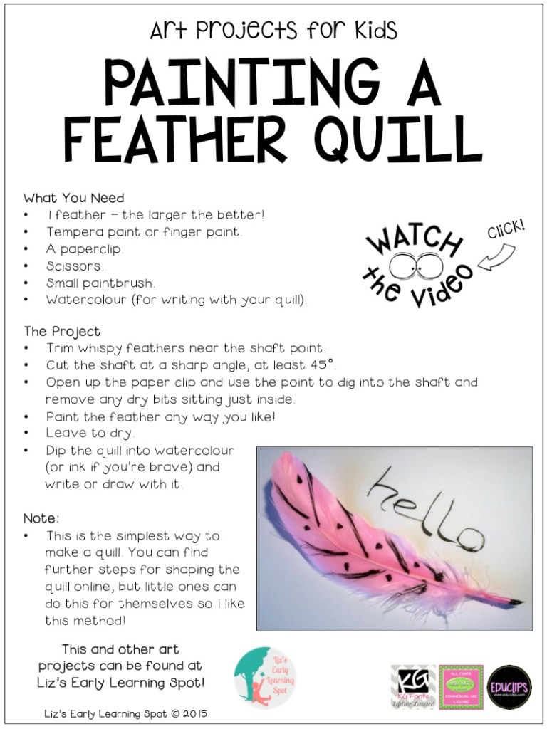 All the instructions you'll need to create a beautiful feather quill!
