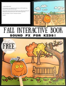 Fall Interactive Book: Little Pumpkin's Fall Day