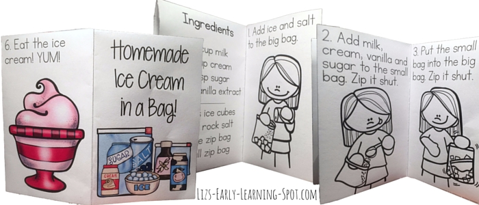 Grab the free reader for your homemade ice cream activity!