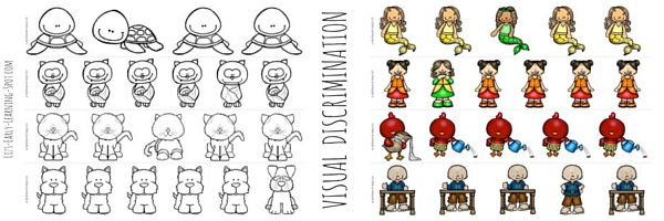Visual discrimination is an essential pre-writing skill. Use these printables to practice!