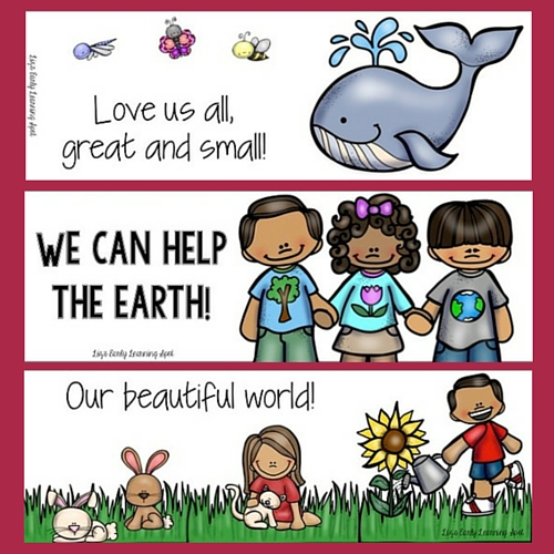 Here are some free colour and black and white book marks with an environmental theme!