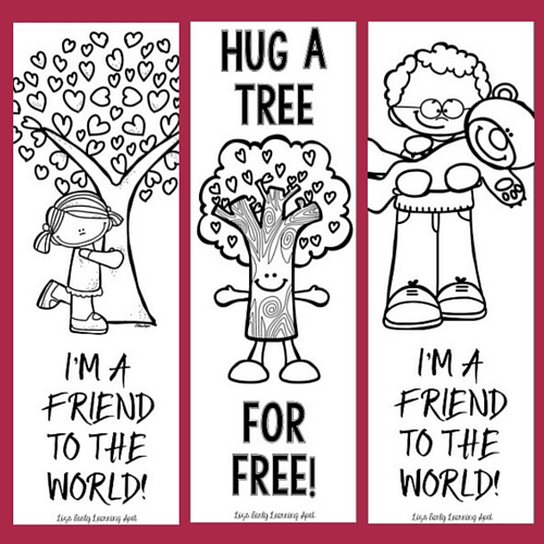 Here are some free colour and black and white bookmarks for you with an environmental theme!