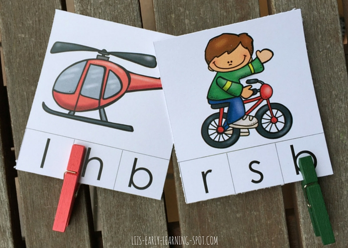 Clip the correct beginning sound with these free transportation cards!