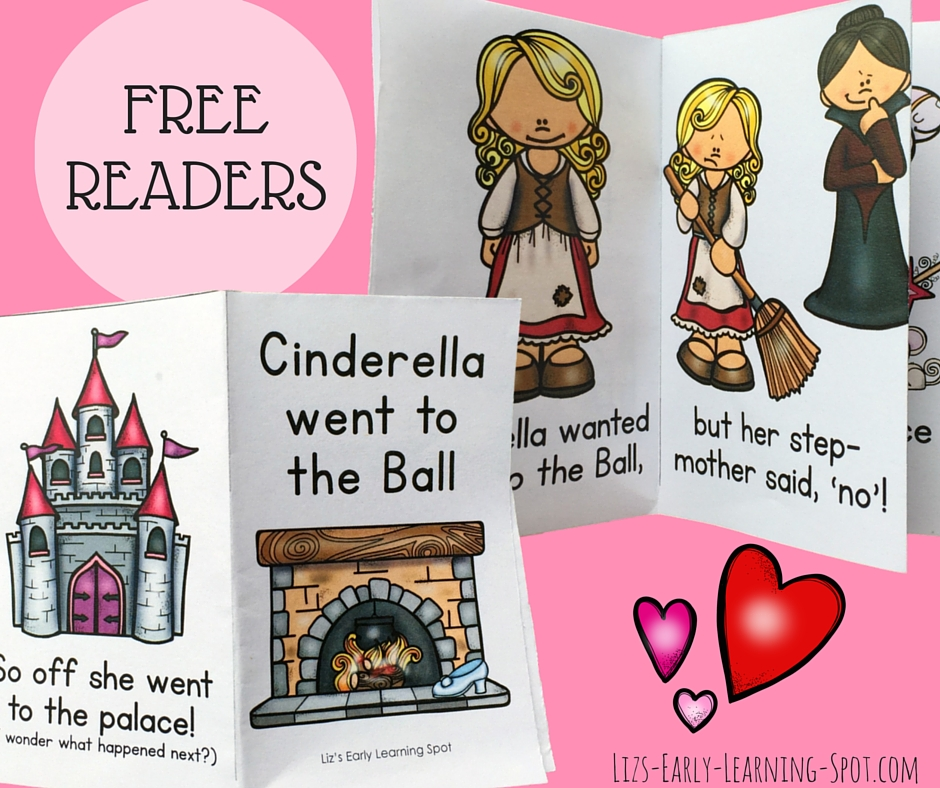 Your kids will love these free Cinderella readers and vocabulary books!