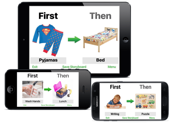 This First and Then App is a life saver for children needing visual support!