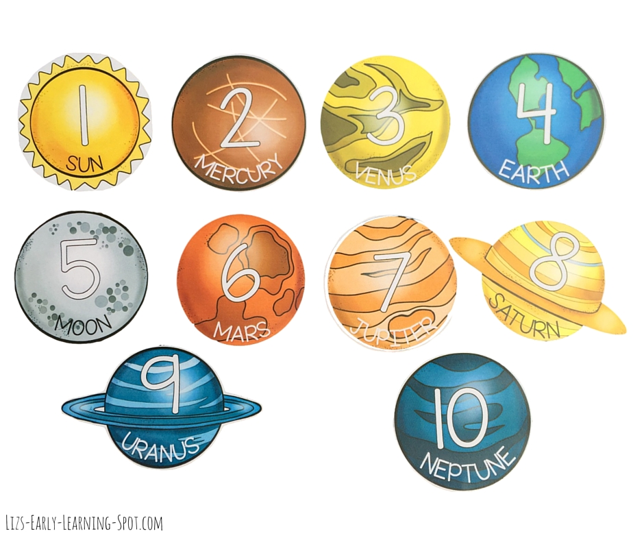 Free planets to use with our space counting mats for addition and subtraction!