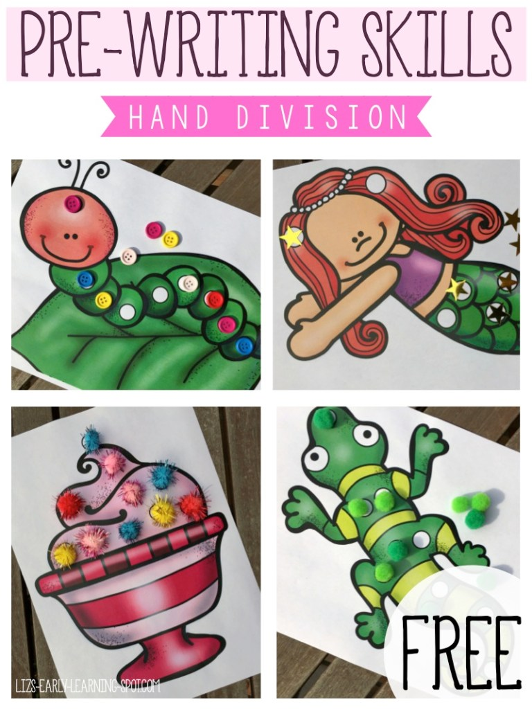 Pre-Writing Skills: Hand Division