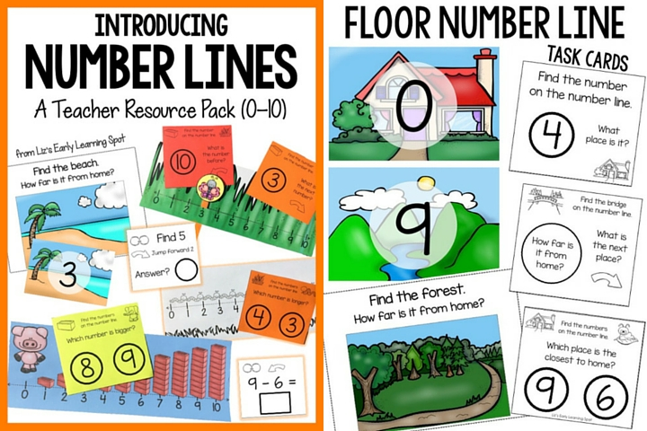 A fantastic teaching pack for introducing number lines! $