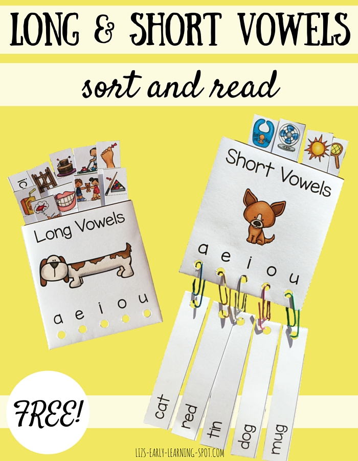 Practice sorting and reading both long vowels and short vowels with this free activity!