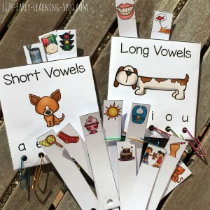 Long Vowels and Short Vowels to Sort and Read