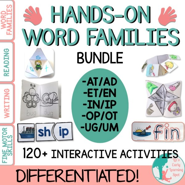 There are more word families activities in this pack that you can use, so there's something for everyone here!