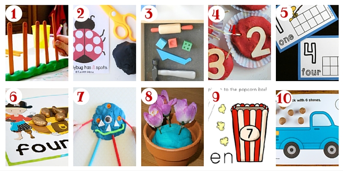 You'll find over 100 ways to count including these fantastic play dough activities!