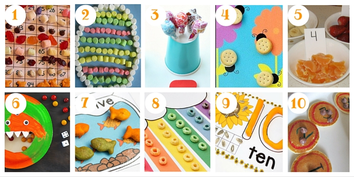 You'll find well over 100 creative ways to count on this post, including these snack ideas and free printables!