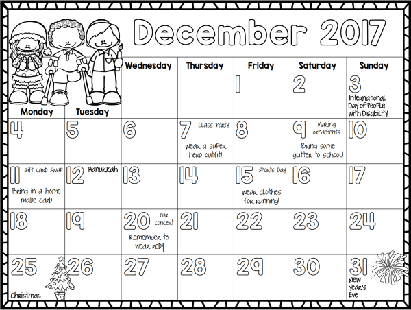 This editable 2017 monthly calendar has a ton of uses both at home and in the classroom! All updates are free!
