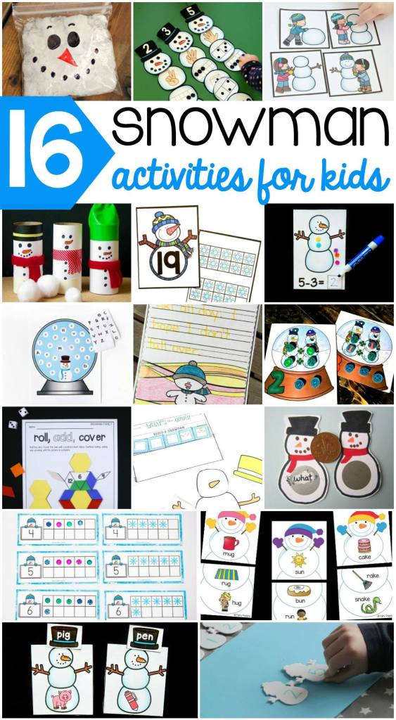 Wow! So many fun and educational snowman activities! Includes lots of free printables, too.