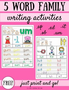 Word families archives lizs early learning spot 5 word family writing activities ibookread ePUb