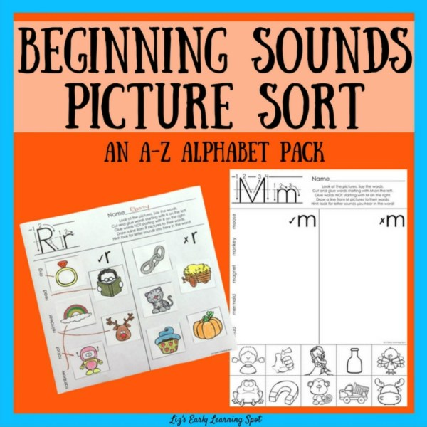 These picture sorts are an effective way for kids to think about the beginning sounds in words!