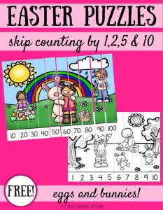 Easter Skip Counting Puzzles