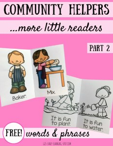 Community Helpers: Little Readers with Sight Words