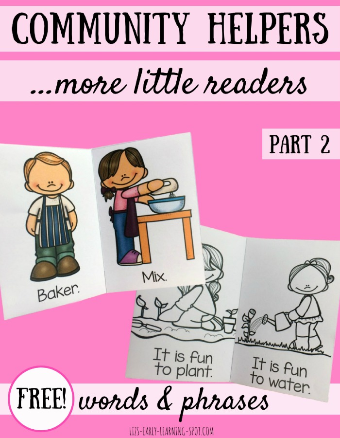 Grab these free community helpers little readers! In color and black and white!