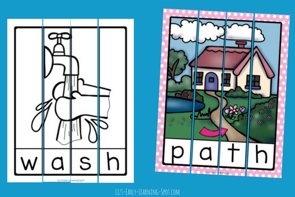 Are your kids learning digraphs? Grab these free digraph ending puzzles and print, cut and go!